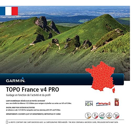 Garmin - Carte TOPO France V4 Pro - France entière