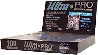 Ultra Pro 1-Pocket Platinum Page with 8-1/2