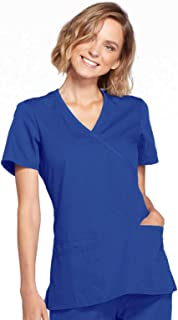 Cherokee womens Workwear Core Stretch Mock Wrap Scrubs Shirt Medical Scrubs