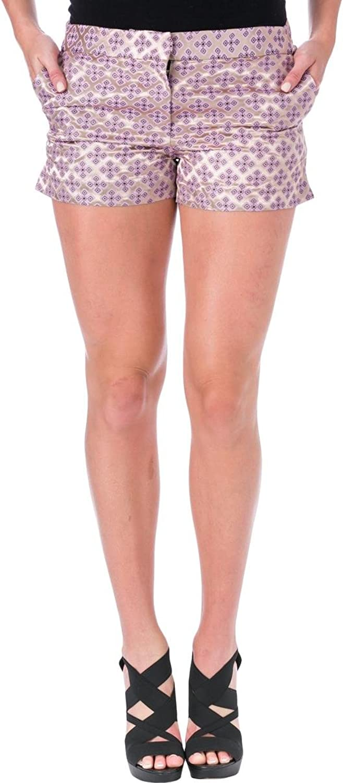 Elizabeth and James Womens Tristant Tile Jacquard Casual Shorts