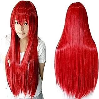 Anogol Hair Cap+Vocaloid 80cm Long Straight Lolita Red Cosplay Wig Hair Wigs