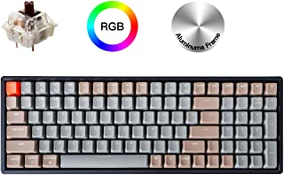 Keychron K4 Wireless Bluetooth/USB Wired Gaming Mechanical Keyboard, Compact 100 Keys RGB LED Backlit Gateron Brown Switch N-Key Rollover, Aluminum Frame for Mac Windows