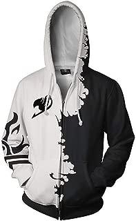 fairy tail gray zip up hoodie