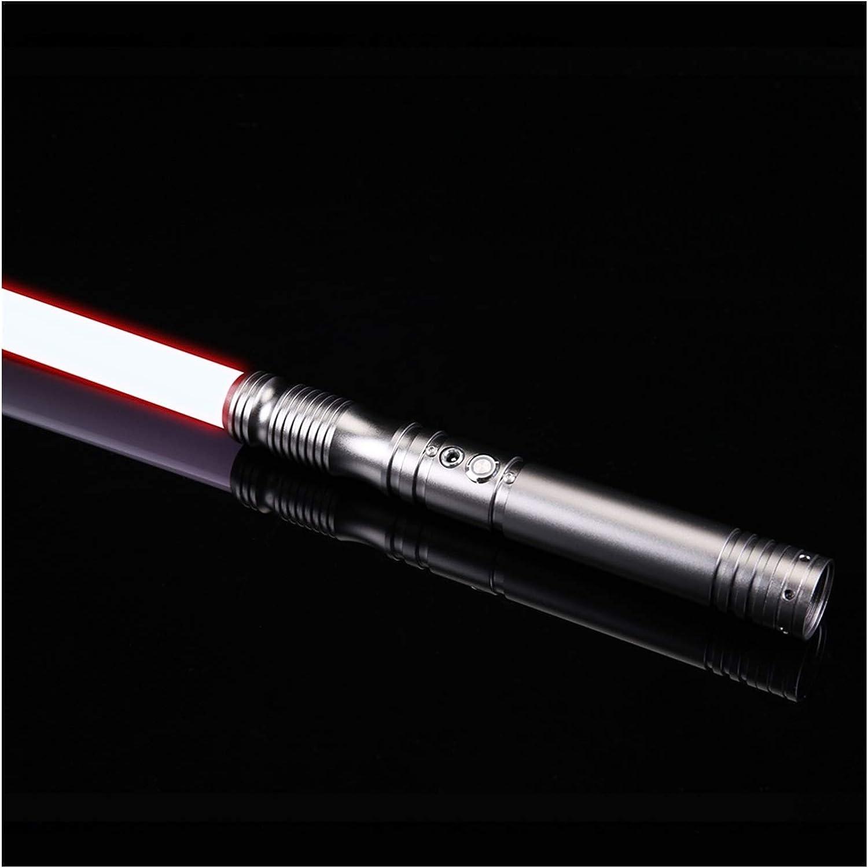 YOUPI 100% nuevo RGB L.E.D Lightsable, Force FX Heavy Dueling, sable de luz recargable, sonido fuerte de alta luz con FOC, empuñadura de metal, Blaster, regalos para niños (color : pistola Hilt RGB)