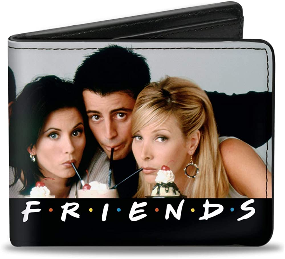 Buckle-Down Men's Standard Max 76% OFF Bifold Now free shipping Wallet x Friends 3.5