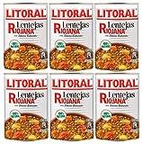 Litoral: Lentejas Riojana - Guiso de lentejas Rioja 430g - Pack de 6 latas