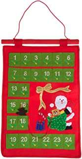 Clever Creations Christmas 24 Day Santa Claus Advent Calendar Premium Holiday Décor | Felt with Embroidered Details | 24 Pockets | Character Day Marker | Unique Durable Decoration | 19