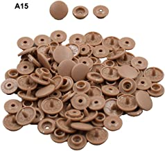 Coffee Plastic Snap Fasteners Size 20 100Sets Snap On Clothing Plastic Snap Button Matte T5 Round for Baby Clothes -A15