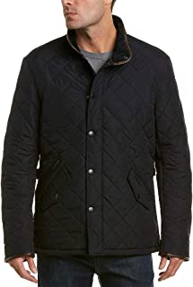 Mens Powell Quilted Jacket, L Navy