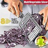 Multi-Purpose Vegetable Slicer,Salad Cutter Veg Slicer Mandolin for Vegetables Cheese Avocado Apple Runner