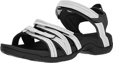 Teva Women's W Tirra Sport Sandal, Black/White Multi, 6.5 M US