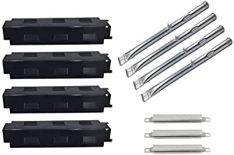 Cookingstar Replacement Parts for Charbroil 463436215 463436213,Thermos 466360113 Gas Grill, Porcelain Steel Heat Plates&Stainless Steel Burners and Crossover Tubes