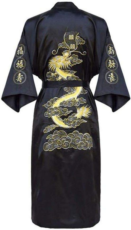 CNYSU Men Embroidery New product! New type Dragon Robe Sleepwear 25% OFF Male Traditional Loos