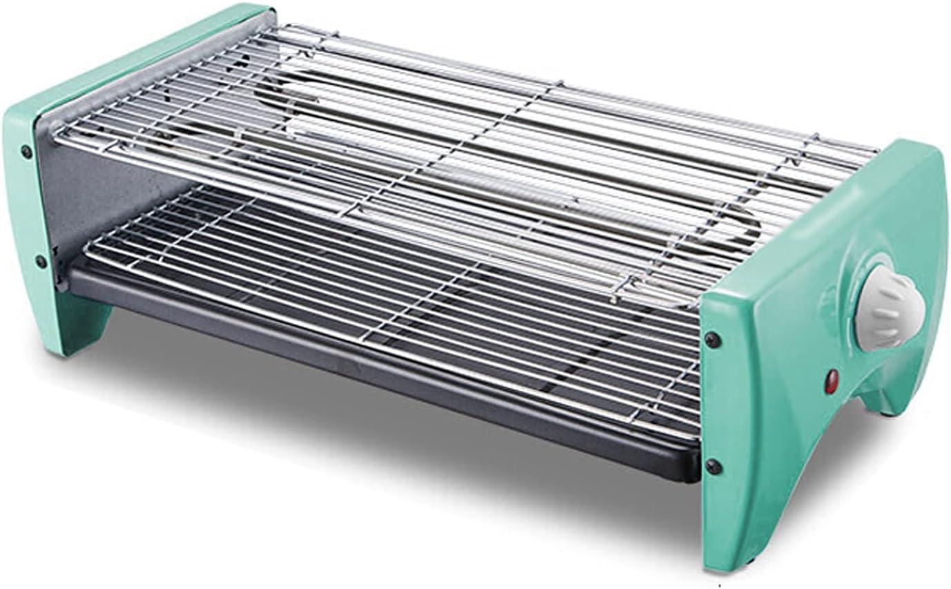 Barbacoa de Carbon Portátil 2 en 1 barbacoa coreana parrilla eléctrica interior ajustable a temperatura ajustable a la parrilla con panaderos antiadherentes y 6 paletas fáciles de limpiar para 1-8 per