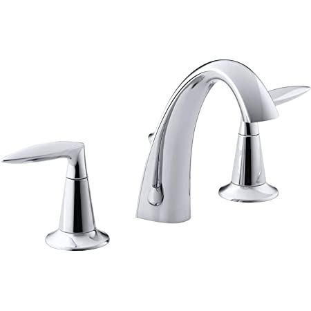Kohler K 11076 4 Cp Archer Lavatory Faucet With 8 Inch Centers Polished Chrome Touch On Bathroom Sink Faucets Amazon Com