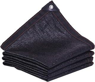 WANG Malla de Sombreo Premium Heavy Duty 95% Negro con Ojales Resistente a los Rayos UV Plant Shade Sail Net Cubierta de Pantalla de Caja for Mascotas Crema (Color : Black, Size : 4x6m)