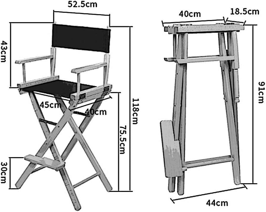 Chaise pliante portable chaise haute pliante en bois chaise haute extérieure chaise haute maquillage noir (Couleur : B) F