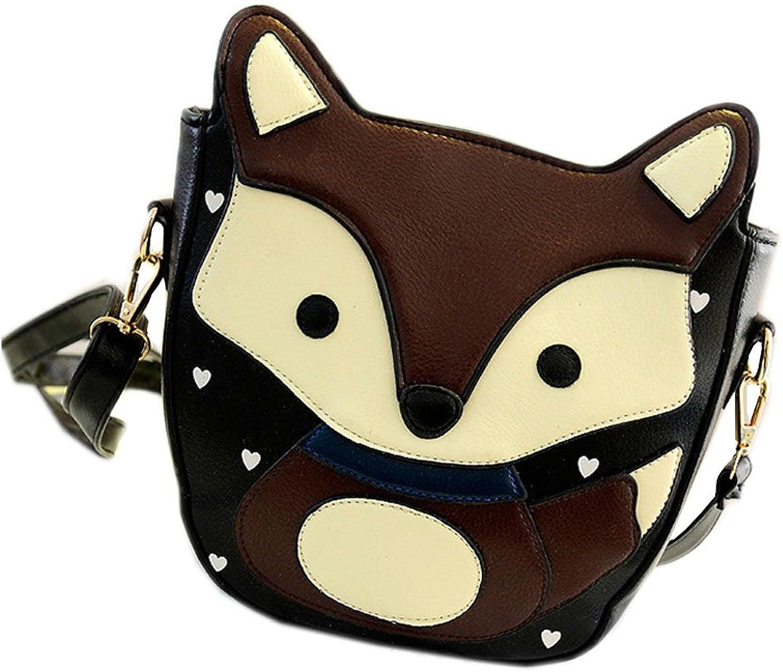 Catkit Womens Cute Cartoon Fox Design Shoulder Crossbody Bag Purse