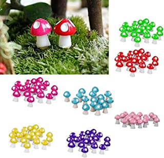 Livecitys 3 Pezzi Sedie da Tavolo Floreali in Miniatura Micro Paesaggio Fata Giardino Bambola Decor-Mini Figure per Giardino Piante Grasse Pianta Bonsai