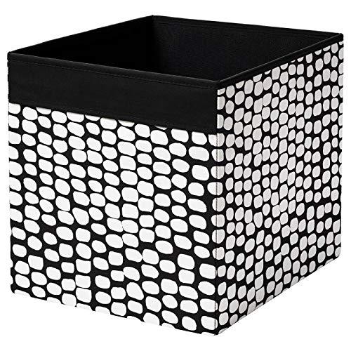 DRÖNA IKEA Box Fach, schwarz-weiß 33cm x 38cm x 33cm Polyester, 33 x 33 x 38 cm