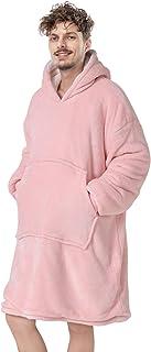 Anjee Oversize Sherpa bluza z kapturem różowa, super miękka do noszenia koc bluza dla dorosłych, dzieci i nastolatków, do ...