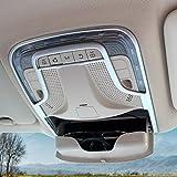 para Vito W447 2014-2020 Interior Techo Cúpula Luz de lectura luz delantera de coche Plástico ABS 1 piezas (Plata mate)