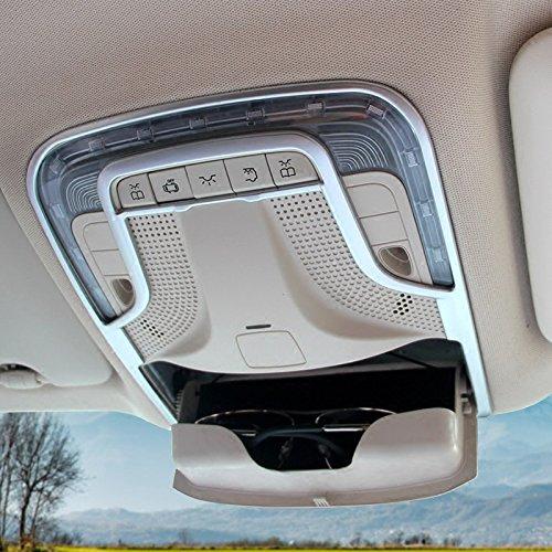 ABS mat Intérieur Toit dôme lampe de lecture avant Coque Trim 1 pcs pour accessoire de voiture BZVT