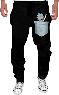 Mens Tiny Rick Men's Casual Sweatpants Pants