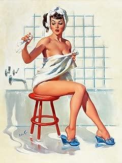 Berkin Arts Joyce Ballantyne Giclee Canvas Print Paintings Poster Reproduction (Pin up Girls 11)
