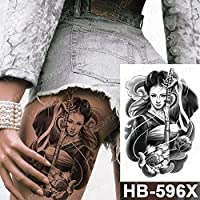 5pcsラージアームスリーブタトゥー日本のPrajnaCarpDragon防水一時タトゥーステッカー神のボディーアート完全な偽のTatoo女性男性 12-HB596X
