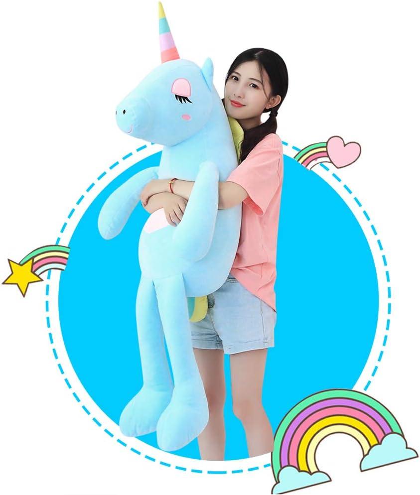Large Unicorn Stuffed 直営ストア Animal Toys 期間限定お試し価格 Plush Giant Pillo Blue