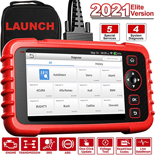 LAUNCH CRP129X OBD2 Scanner 7.0 Android Scan Tool with Oil EPB SAS TPMS Throttle Body Reset Auto Scanner Code Reader for Engine Transmission ABS SRS AutoVIN One-Click Wi-Fi Lifetime Free Updates