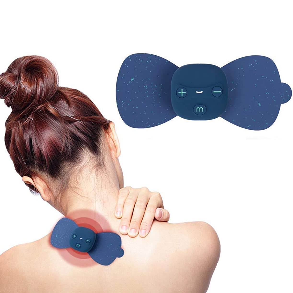 大騒ぎ技術者所得マッサージステッカー EMSマッサージテンマシンセラピーデバイス、ワイヤレステンユニット - 電極パッドデバイス - 電気刺激マシン - EMS痛み緩和療法神経刺激用筋肉