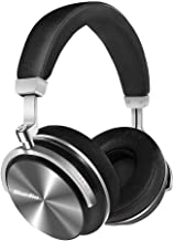 Bluedio T4 Superior Turbine Active Noise Cancelling Bluetooth Headphones with Mic Over-Ear Swiveling Wired and Wireless Headphones Headset for Cell Phone/TV/PC bass Fashion (Black, Upgraded Version)