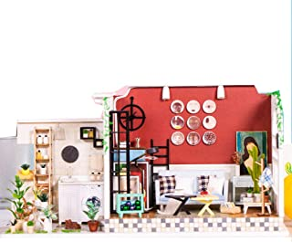 iiE Create Doll House Miniature Dollhouse Model DIY Wooden Toy Dolls Houses with Furniture Toys Birthday Chritmas Gift (H003F)