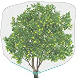 Bird Barrier Netting Mesh with Drawstring Plant Cover for Protect Fruit Vegetable Flower (1, 72 x 84)