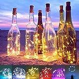 no-branded Mason Jar Luces solares Botella de Vino 10ocs Solar Garland Luces con Corcho de Alambre de Cobre de Colores Luz de Navidad de la Cadena por Party Decor Botella Luces XXYHYQHJD
