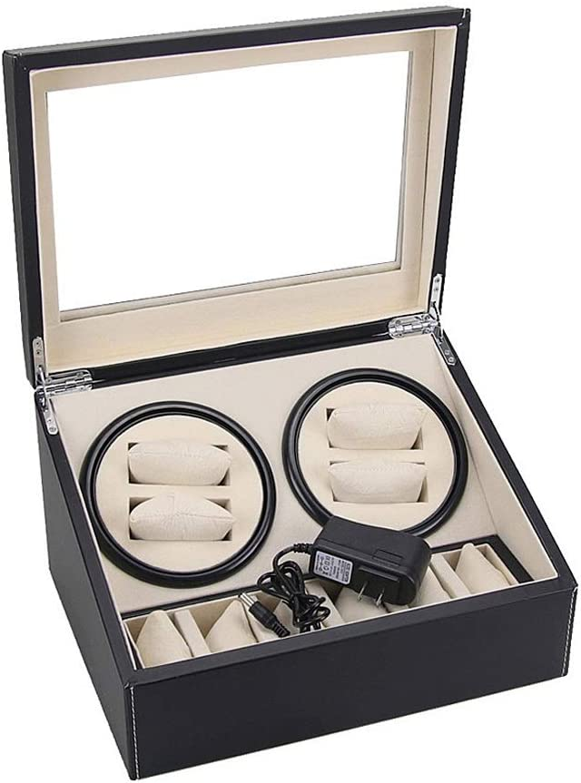 ZCXBHD 5 ☆ popular Ranking TOP7 Automatic Rotate Watch Winder Leather Storages wi 4+6 Box