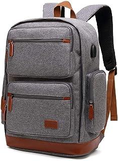 Laptop Backpack for Men Travel Rucksack Waterproof College Daypack 15.6 Inch Laptops Backpack with USB Charging Port Business Backpack Computer Bag,A