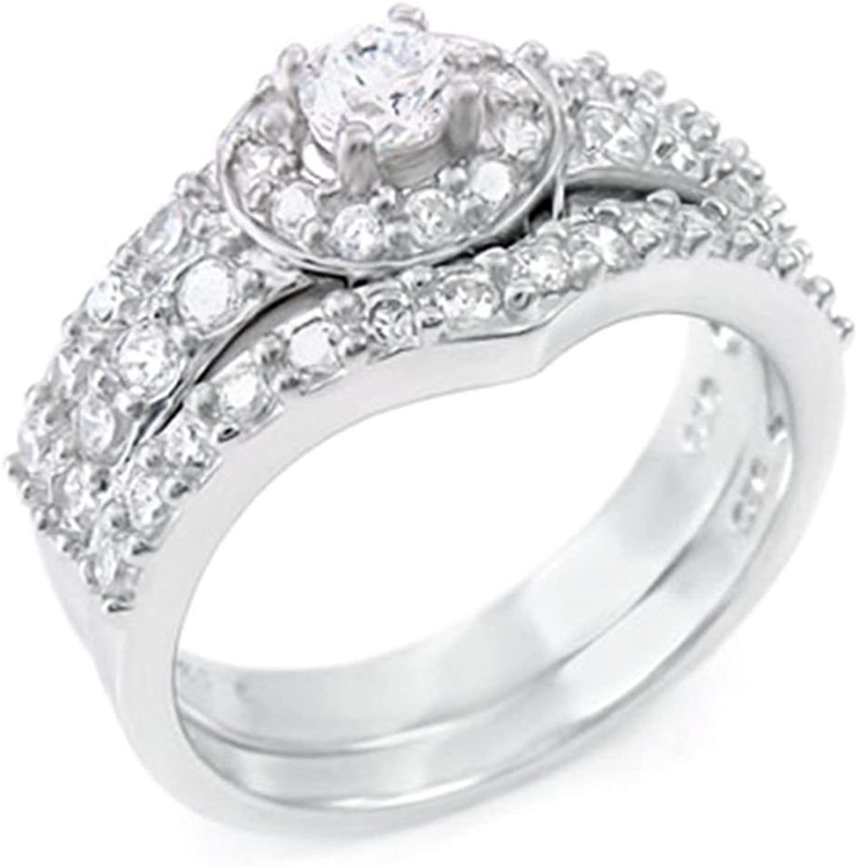 925 Silver .25 ct Wedding ring Set El Paso Mall designer Max 68% OFF