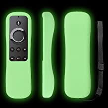 Fire TV Remote Case SIKAI Shockproof Anti-Lost Protective Silicone Cover for 5.9'' Amazon Fire TV, Fire TV Stick, Fire TV Cube Alexa Voice Remote Skin-Friendly with Remote Loop (Glow in Dark Green)