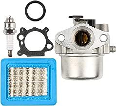Dalom MIA11798 Carburetor w LG493537S Air Filter for John Deere Lawn Mower Tractor JS20 JS25 JS26 JS28 JS30 JS35 JS36 JS38 JS60 JS60H JS61 JS63 JS63C JS63E JM26 JM36 Spark Plug