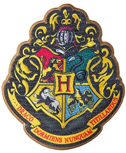 Simplicity Harry Potter Emblem Applique Clothing Iron On Patch, 3.5'' x 4.1'', Hogwarts School Emble