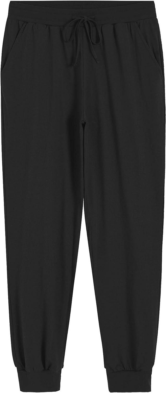 Latuza Women's Cotton Pajama Joggers Knit Lounge Pants