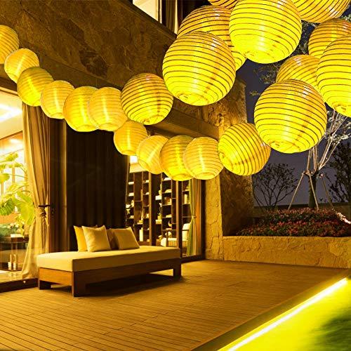 Lantern Fairy Lights, Infankey 33FT 40 LED Lantern String Lights, Main Power & Remote Control, 8 Modes, Warm White, Chinese Lantern Lights for Garden, Party, Wedding, Halloween, Christmas Decoration