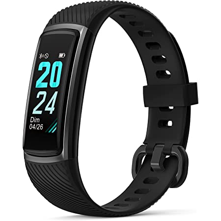 Letsfit High-End Fitness Trackers HR, Activity Tracker with Heart Rate Monitor IP68 Waterproof Smart Watch, Step Counter, Pedometer Smartwatch, Sleep Monitor for Women Men