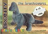 BBOC Cards TY Beanie Babies Series 1 Retired (Silver) - BRONTY The Brontosaurus
