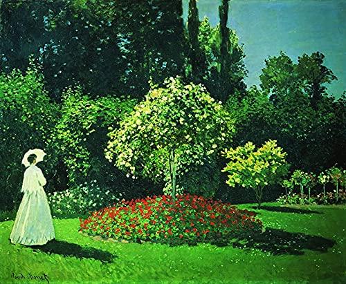 PLKIJ Puzzle Personalizzabili da 1000 pezzi Claude Monet-Jenny in giardino-Gioco di puzzle per adulti e adolescenti Giocattoli Regalo Decorazione per la casa Giocattoli fai da te per 75x50 cm