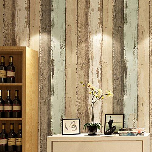 Modern vintage houten patroon gestreepte glasvezel behang 3D woonkamer slaapkamer foto muur papier huisdecoratie 200×140cm