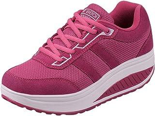 95sCloud Zapatillas de mujer de malla, cuña, ligeras, transpirables, para senderismo, zapatillas de deporte, para correr, ...